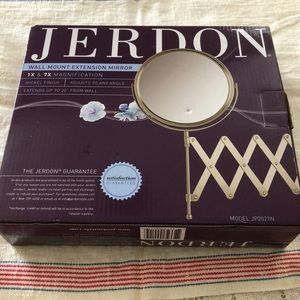 NIB: Jerdon Wall Mount Extension Mirror 7x Mag